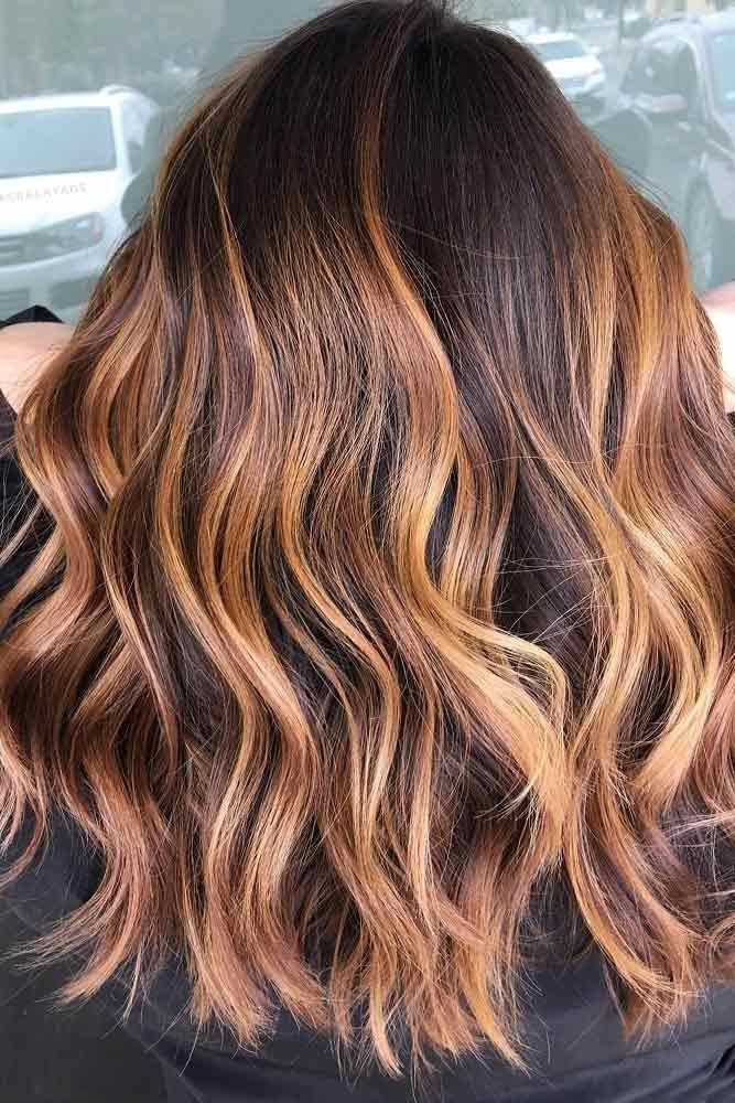 49 charmante und schicke Optionen für braunes Haar mit Highlights,  #balayagehairhoney #braun... #balayagehair
