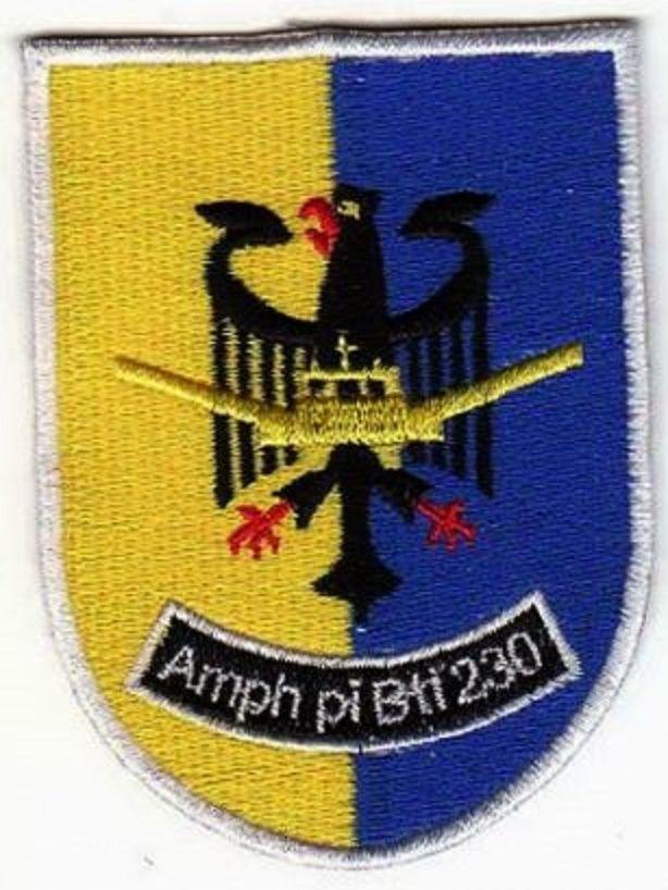 Aufnaher Patch Amphibisches Pionierbataillon 230 Bundeswehr Verbandsabzeichen Insignias Militares Insignias Militar