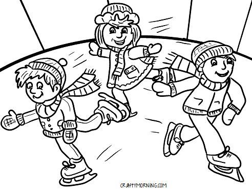 ice skater coloring pages print - photo#29