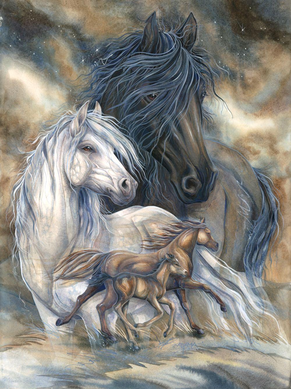 """inherit Wind"" Par Jody Bergsma Horse Artwork"