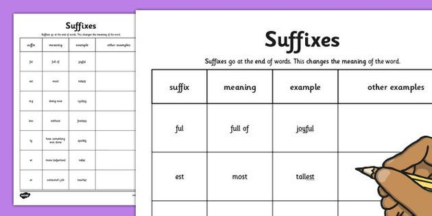 Suffixes Worksheet | English Assessment | Pinterest | Suffixes ...