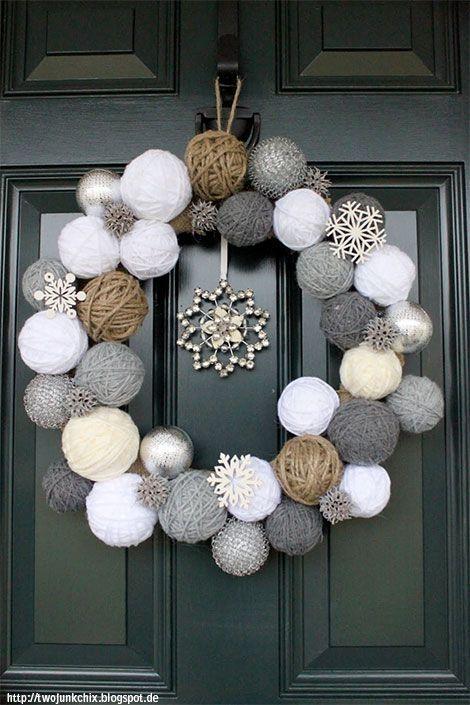 Bastelideen im Winter - mit Watte, Papier und Ästen kreativ dekorieren #christmasdecorideasforlivingroom