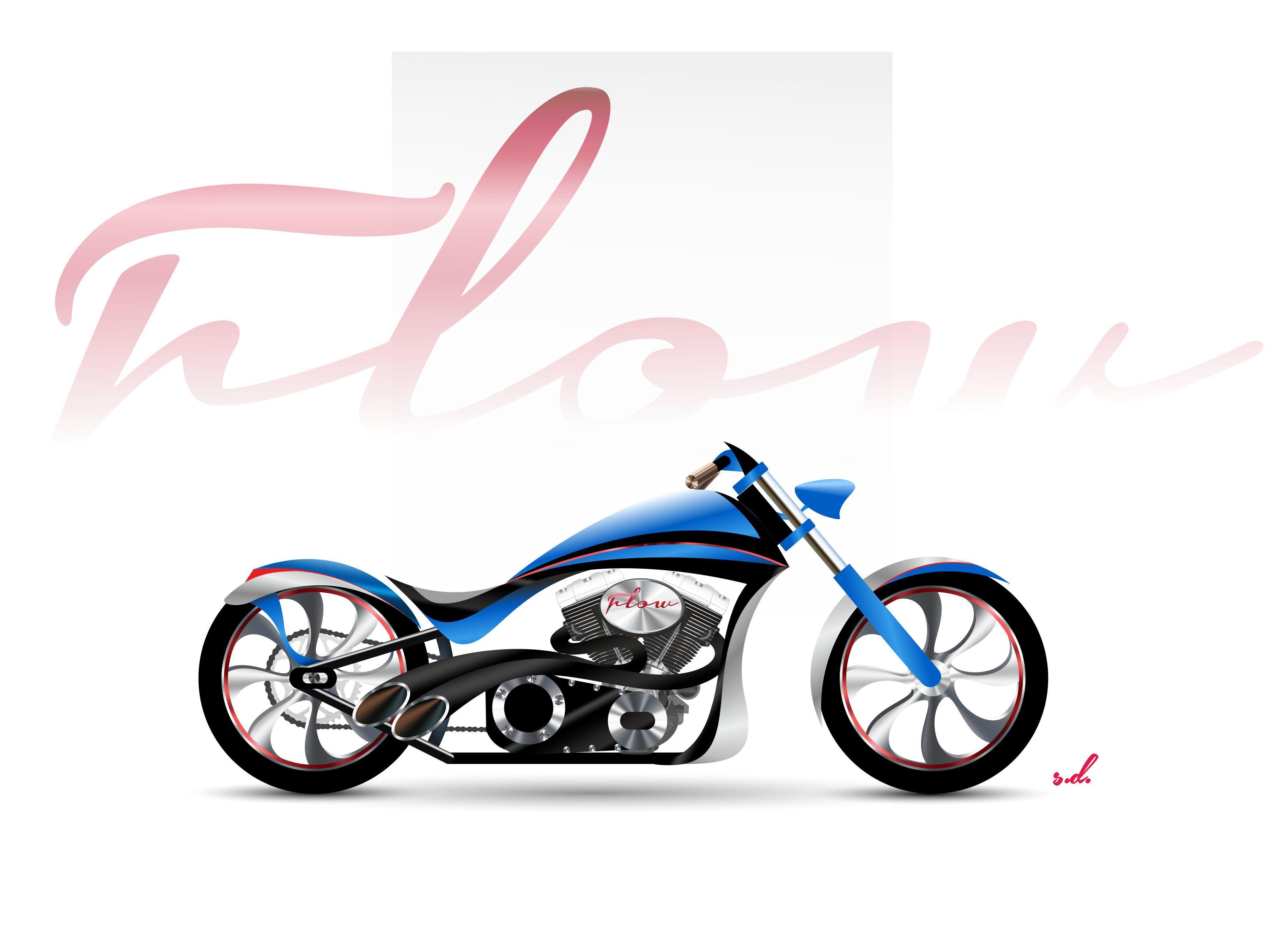 Flow - Custom Motorcycle Design Concept