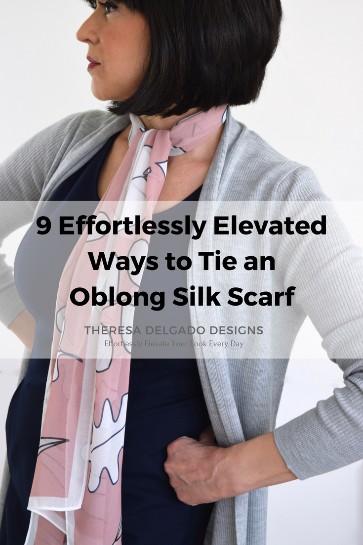 How to oblong wear silk scarf