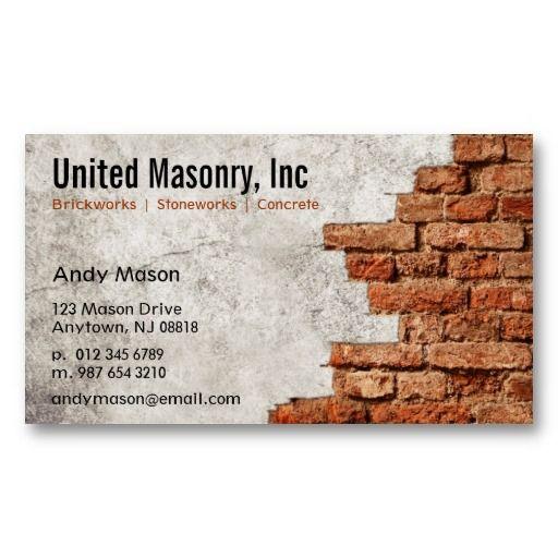 Stone masonry business cards reheart Gallery