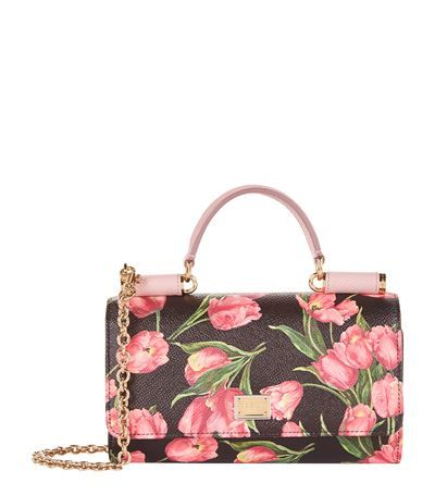 DOLCE   GABBANA Dauphine Tulip Gloss Phone Bag.  dolcegabbana  bags   leather  lining  accessories  shoulder bags  wallet  phone case  charm   hand bags   5b386124535cf