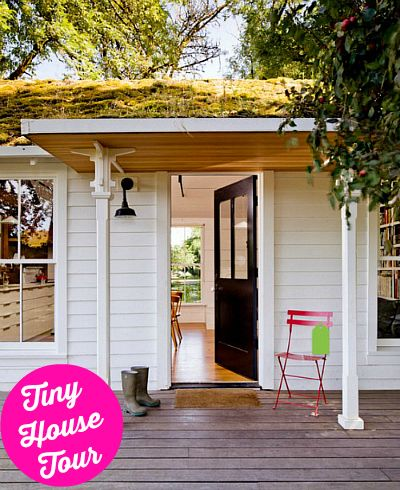 Little white house on Sauvie Island in Oregon Tiny houses