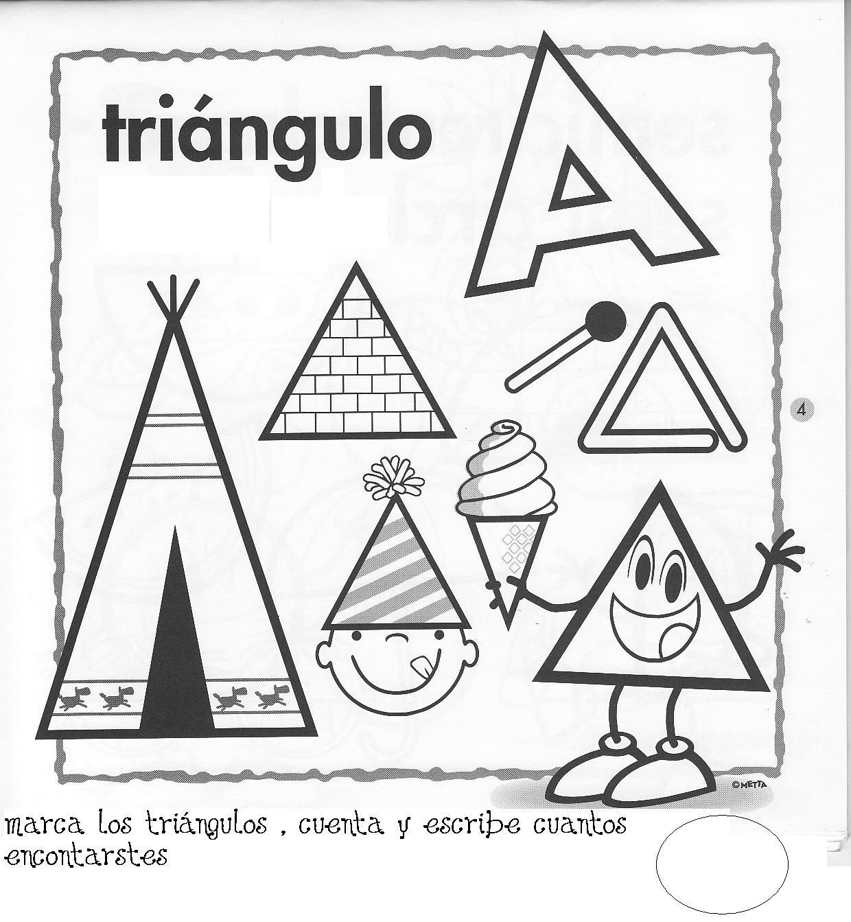Fichas Para Pintar Fichas Figuras Geometricas Fichas De Figuras