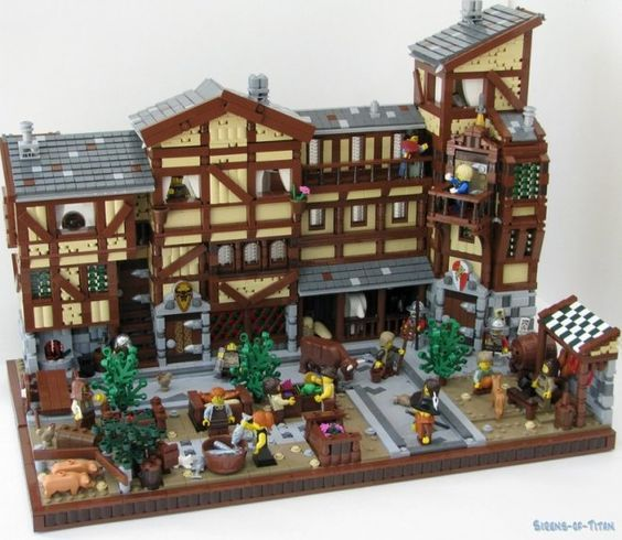 LEGO medieval market. On Lego Ideas, it has reached 10,000 supporters!: