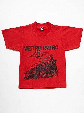 Vintage Kids' Western Pacific T-shirt | American Apparel