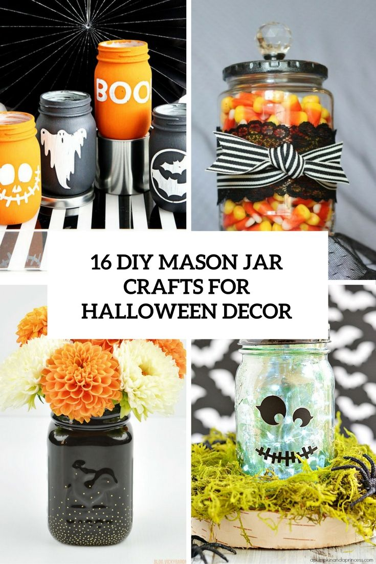 The Best DIY And HowTo Tutorials To Improve Your Home Of - Best diy mason jar halloween crafts ideas