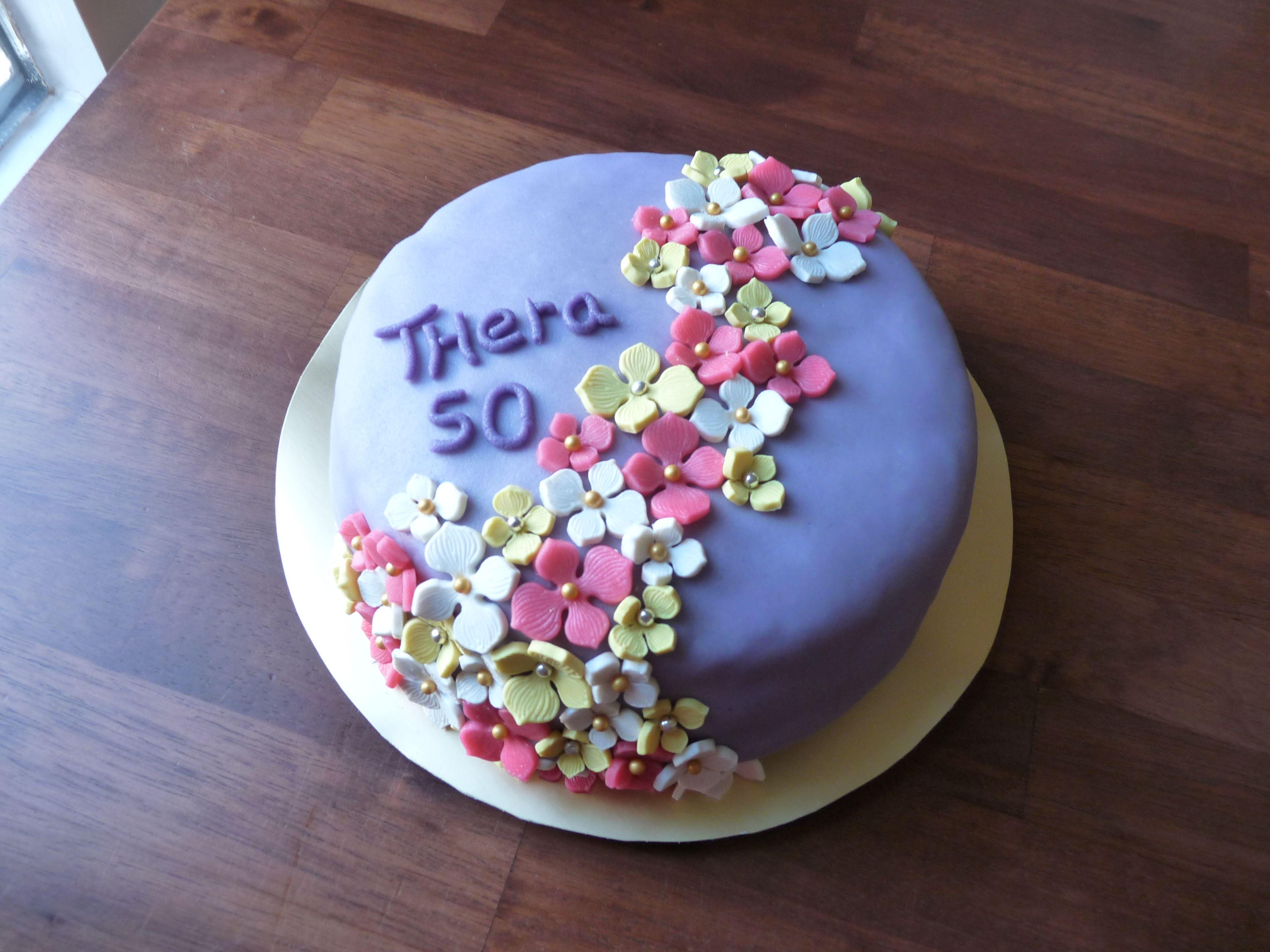 Wonderlijk marsepein #bloemen #taart (met afbeeldingen) | Marsepein taart LX-75