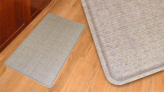 Kitchen Gel Mats American Woodmark Cabinets Gelpro Wicker Oyster Grey Filled Comfort Floor And