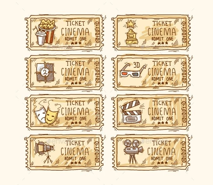 8+ Movie Ticket Templates - Free Word, EPS, PSD Formats Download - prom ticket template