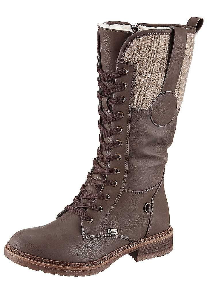 Lace Up Knitted Collar Boots by Rieker. I'm so happy because