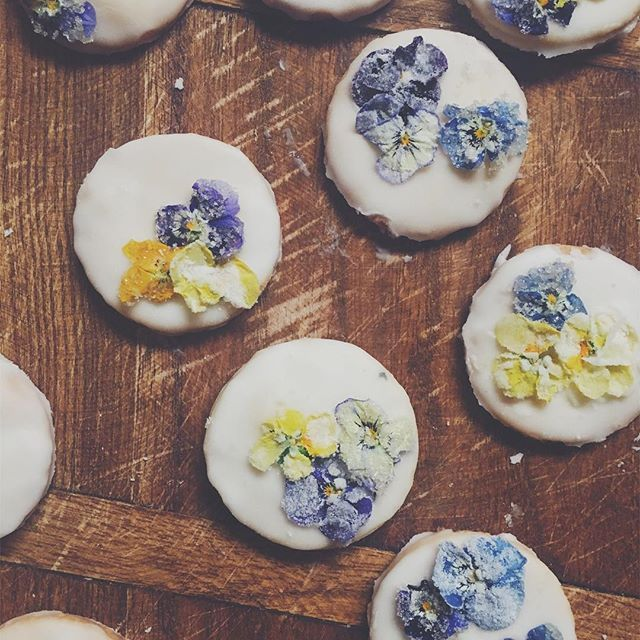 What pretty purple candied flowers are we going to show you how to make in the new issue soon! #candiedflowers #feedfeed #food52grams #tastingtable #tastespotting #bonappetit #foodnetwork #thatsdarling #honestmagazine #indiemags #edibleflowers