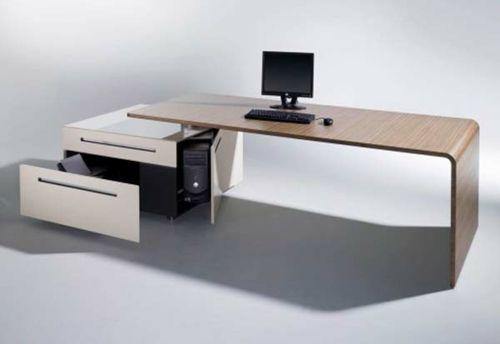 Schlichtes Design Modern Büro Schreibtisch · Computer DesksOffice DesksHome  ...