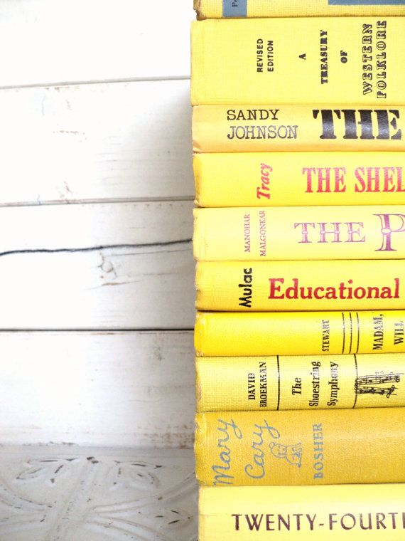 Yellow Instant Library Collection Vintage By Sorrythankyou79 Yellow Vintage Books Amarillo