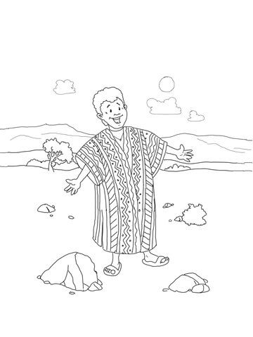 Joseph Coat of Many Colors coloring page from Joseph son of Jacob ...