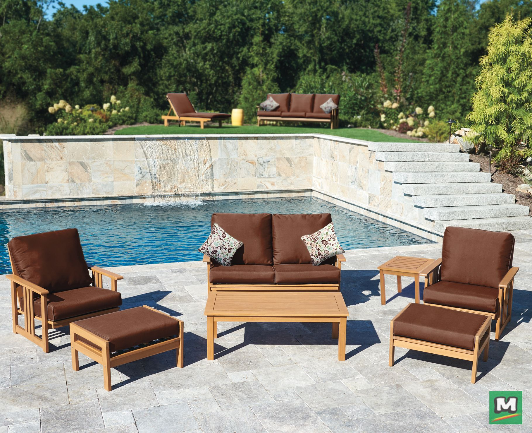 Beautifully Designed The Bayfield 7 Piece Deep Seating Collection Is Made From Outdoor Re Patio Furniture Collection Outdoor Furniture Sets Backyard Creations