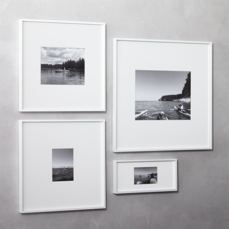 Gallery White 11x14 Picture Frame Reviews Cb2 In 2020 White Picture Frames Frames On Wall Unique Picture Frames