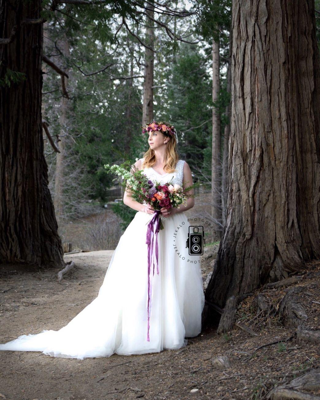 Rustic bride forest wedding boho bride woodsy wedding lake
