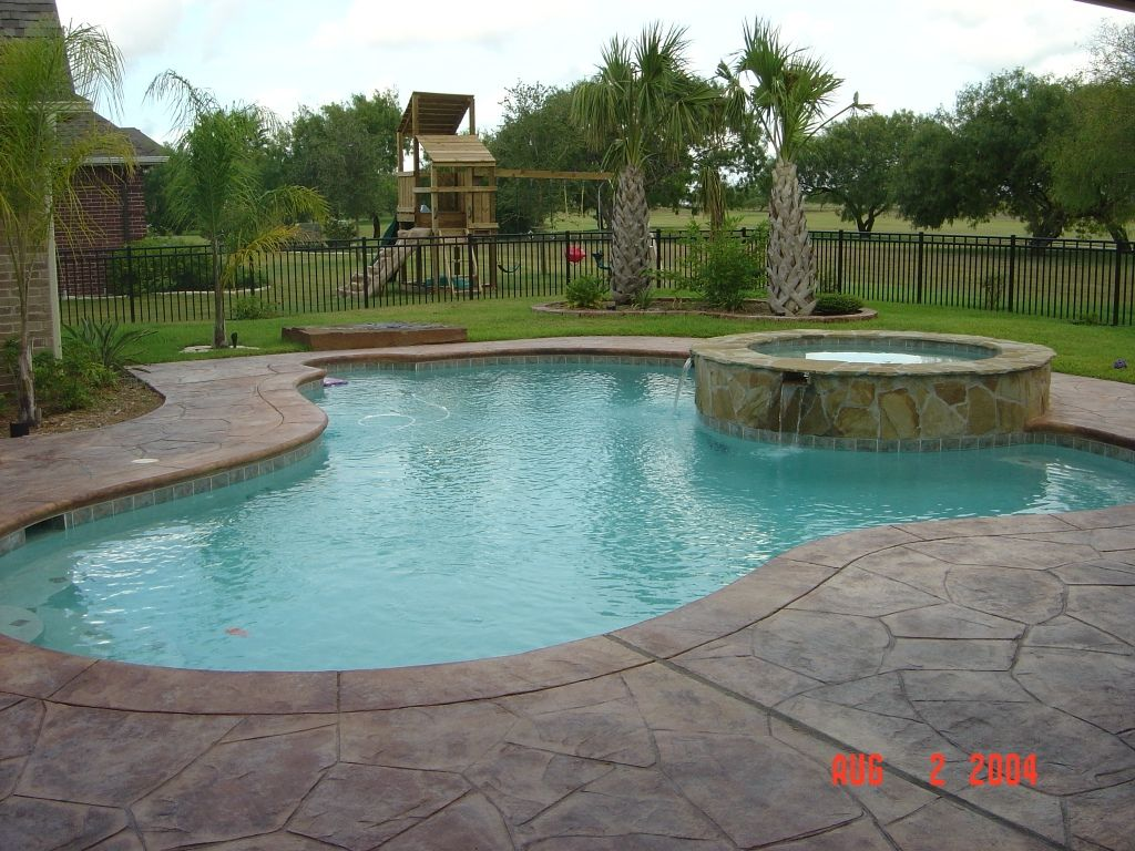 Swimming pool hot tub combo google search swimming for Swimming pool spa designs