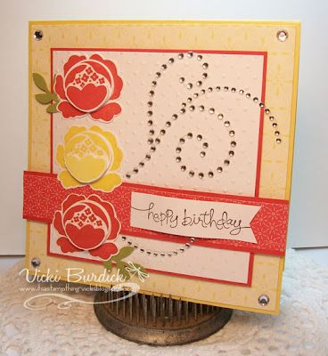 Like this layout from Vicki Burdick's blog