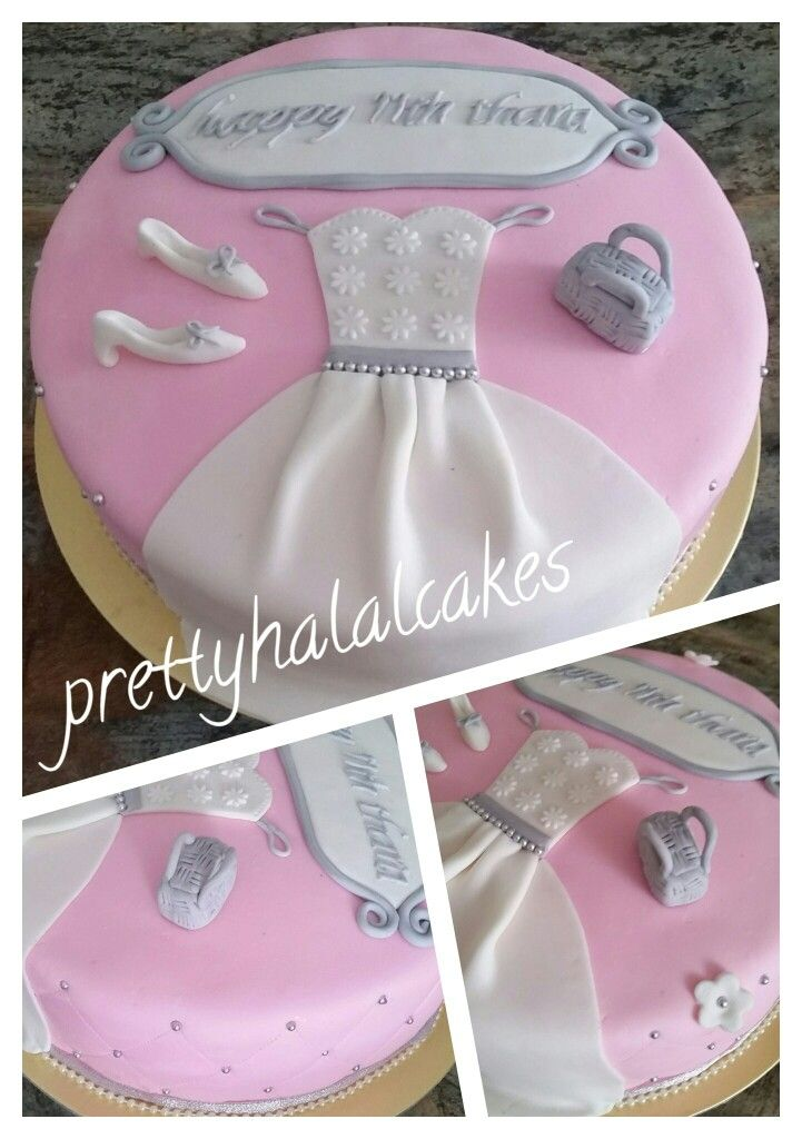 Princess Dress Shoes And Bag Birthday Cake Prettyhalalcakes
