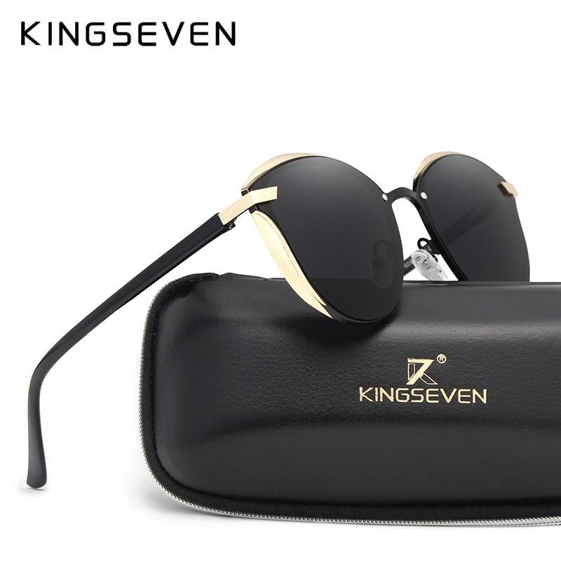 10466be11639 KINGSEVEN Cat Eye Sunglasses Women Fashion Ladies Sun Glasses Female  Vintage Shades Oculos de sol Feminino