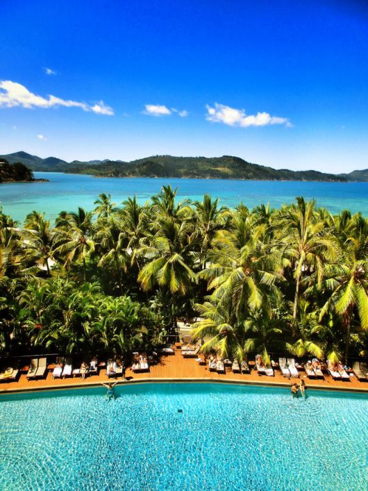 The view from the Reef View Hotel — Hamilton Island