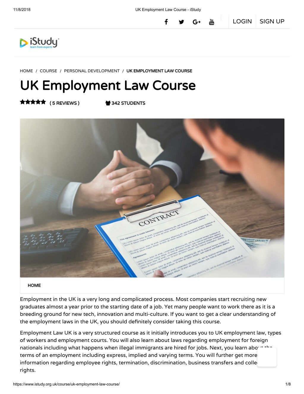 Uk Employment Law Course Istudy Law Courses Employment Law Uk