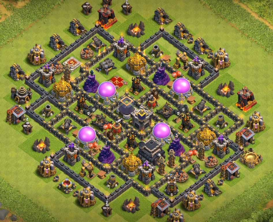 Anti Everything Coc Th9 Farming Base 11