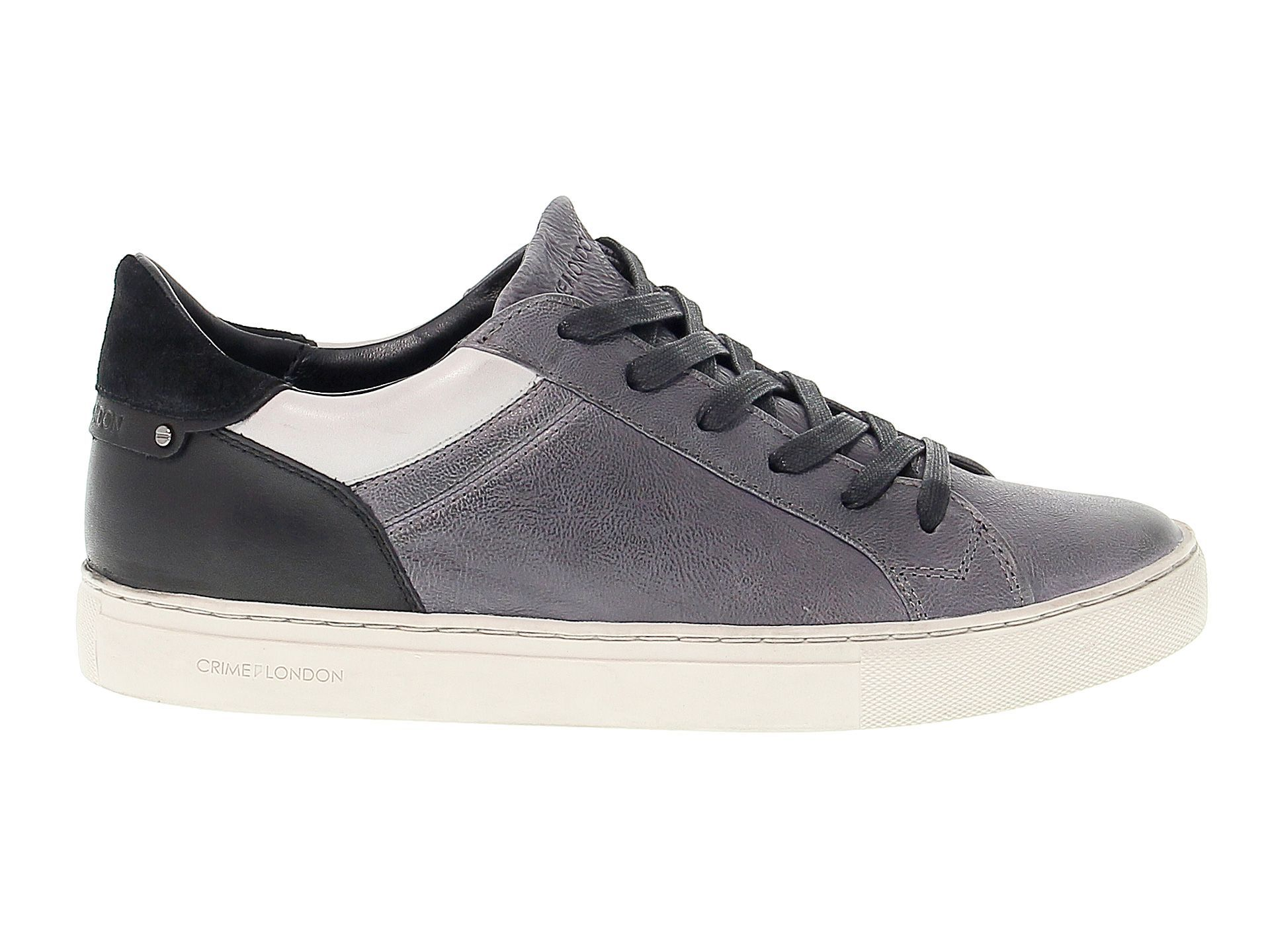 Crime London Men S 11031a1730 Grey Black Suede Sneakers Crimelondon Shoes Suede Sneakers Suede Sneakers