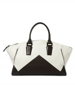 Narciso Rodriguez Black & White Geometric Zip Tote - The Edge of Spring http://shop.harpersbazaar.com/trends/the-edge-of-spring/