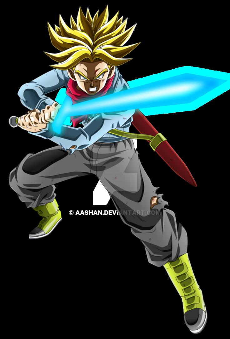Future trunks super saiyan rage with spirit sword by - Trunks super sayen ...