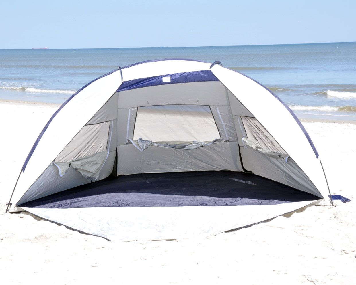 Solarguard Jumbo Deluxe Beach Shelter With Ventilation Panels And Door Upf 120 Toys Games Outdoor Play Sand Beach Toy Beach Tent Tent Beach Cabana