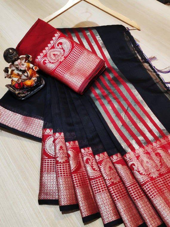 Photo of Items similar to Doriya ground saree / black saree / designer saree / saree for women / wedding saree/ indian saree/ beautiful saree / saree blouse/ saree on Etsy