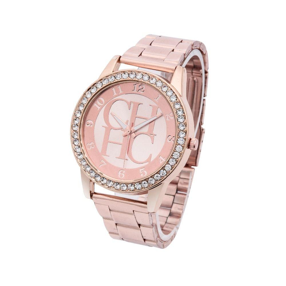 a18f7578f99 Hot vender novos famosos Top marca de luxo relógios das mulheres De Aço  Cheio de Strass relógio de Quartzo moda Casual senhora relógio de pulso  Reloj Mujer ...