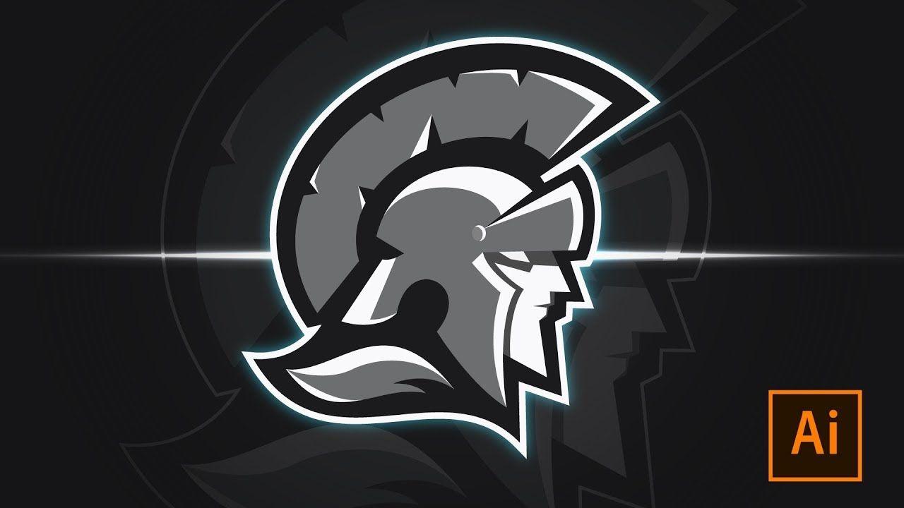 Adobe Logo Spartan Youtuber Designinspiration Designideas Illustrations Illustrator Adobeillustrator Spa Logo Creation Sports Team Logos Logo Design