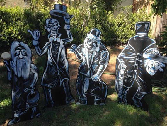 Haunted Mansion Ghosts Halloween Yard Decor Projects