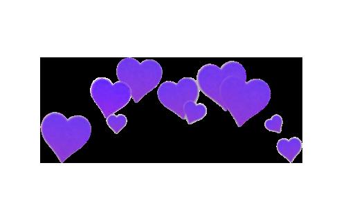 Purple Hearts Seni Kartu Lucu Bingkai Foto