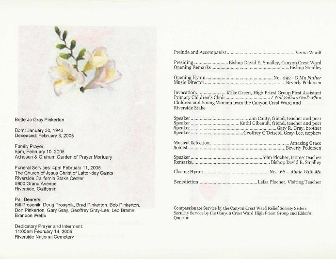 free printable wedding programs templates Program ( Exterior - free memorial service program
