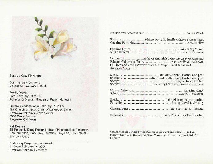 free printable wedding programs templates Program ( Exterior - free printable funeral programs templates