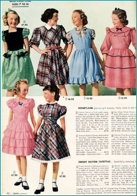 1950s Girls Clothing Sears Catalog Pin By Anthea Coffen