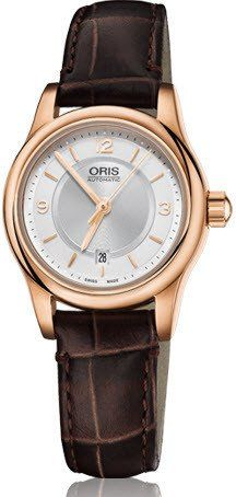 84529a4ca377  oris Watch Classic Lady Date Rose Gold PVD Leather  bracelet-strap-leather   brand-oris  case-material-rose-gold  case-width-28-5mm  date-yes ...