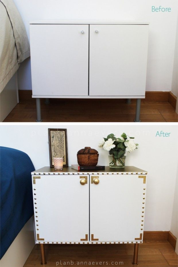 Boring Piece Gets A Great Makeover. Night Table Makeover   22 Creative DIY  Furniture Makeover Projects