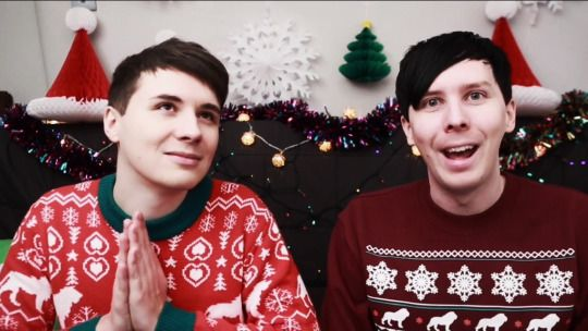 Dan And Phil Christmas Sweater.Festive Sweaters On Will Dan And Phil Be Millionaires