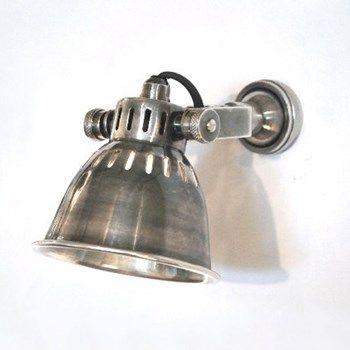 Adjustable Antique Silver Led Spotlight Wall Light Hogar