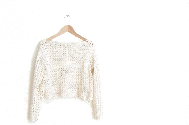 GANCHILLO patrón suéter bricolaje mujer suéter por joyofmotion ...